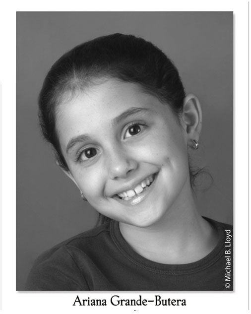 actor headshots , Model Talent Search Photographer, Ariana Grande at Lloyd's Studio